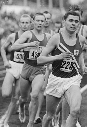 Jürgen May - Jürgen May (foreground) at the GDR-championships 1963.