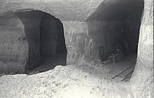 A partially collapsed intersection of two tunnels in the Bergkristall complex.