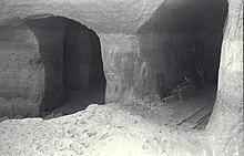 Kahden tunnelin risteys osittain romahti Bergkristall-kompleksissa.