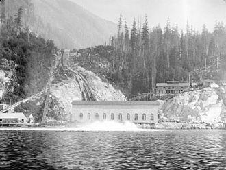 Indian Arm - Image: Buntzen Lake Power Plant number one