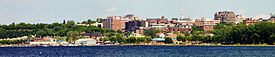 Burlington seen from Lake Champlain