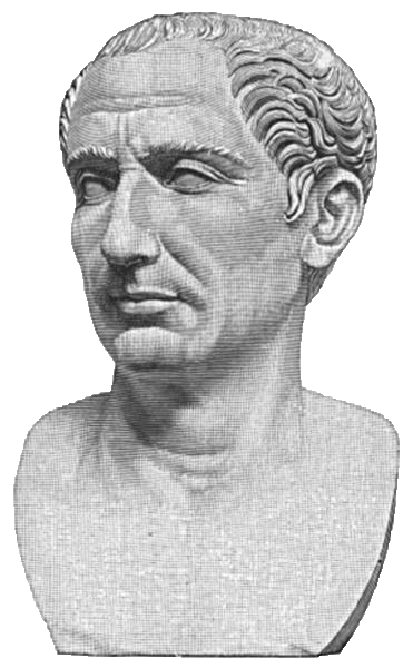 Bust of Julius Caesar from History of the World (1902)