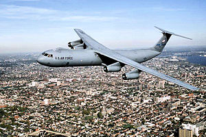 30th Airlift Squadron - 438th Wing C-141 over Philadelphia