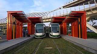 Circular light rail circular light rail line of Kaohsiung Mass Rapid Transit