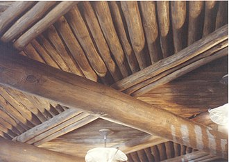 Viga (architecture) - Latillas in a Viga Roof