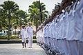 CNO reviews Malaysian sailors. (12487405554).jpg