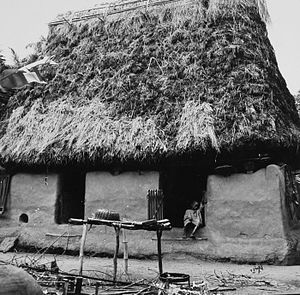 Igbo people - Traditional Igbo house/room from the Anambra area, 1967