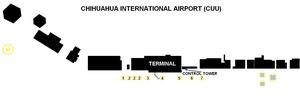 Chihuahua International Airport - Terminal map