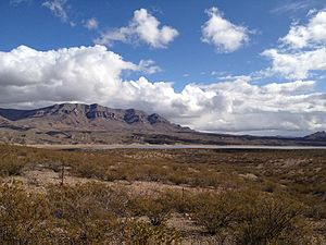 Caballo Mountains - Image: Caballo mountains and lake sierra county new mexico