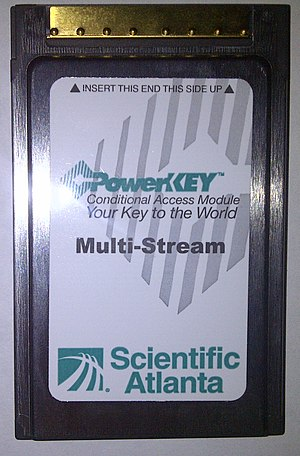 "CableCARD - A Scientific Atlanta (now Cisco) multi-stream CableCARD or ""M-card"""