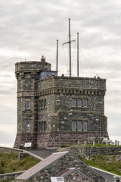 Cabot Tower, north face, Signal Hill, St. John's, Newfoundland.jpg