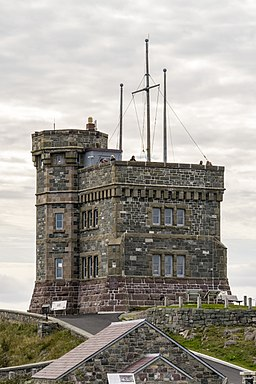 Cabot Tower, north face, Signal Hill, St. John's, Newfoundland