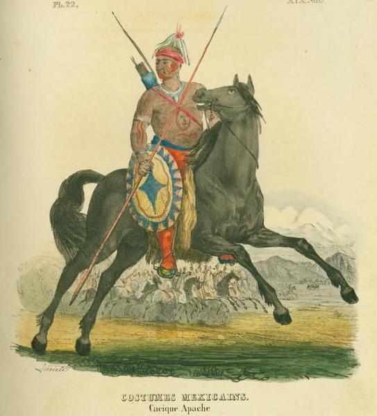 Cacique Apache by Claudio Linati 1828