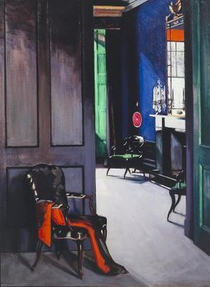 Francis Cadell (artist) - Image: Cadell Interior with opera cloak