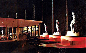 Caesars Palace - Caesars Palace fountains in 1970