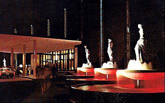 Caesars Palace - Caesars Palace fountains in 1970