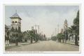 Cajon Street, showing four Churches, Redlands, Calif (NYPL b12647398-75614).tiff