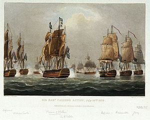 Battle of Cape Finisterre (1805) - Calder's Action, July 22nd 1805 by Thomas Whitcombe