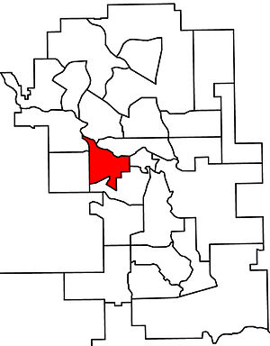 Calgary-Currie - 2010 boundaries
