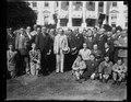 Calvin Coolidge and group outside White House, Washington, D.C. LCCN2016889028.tif