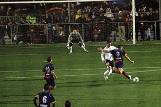 UE Llagostera - 2012–13 Copa del Rey game against Valencia CF at Estadi Municipal de Llagostera.