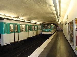 Campo Formio (Paris Métro) - Image: Campo Formio 2rames