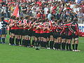 Canada rugby team during anthems at RWC.jpg