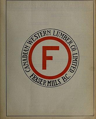 Fraser Mills, British Columbia - Fraser Mills company logo