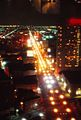 Canal Street New Orelans at night seen from Top of the Mart 1973.jpg