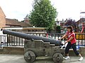 Cannon, outside Lincoln Castle - geograph.org.uk - 536963.jpg