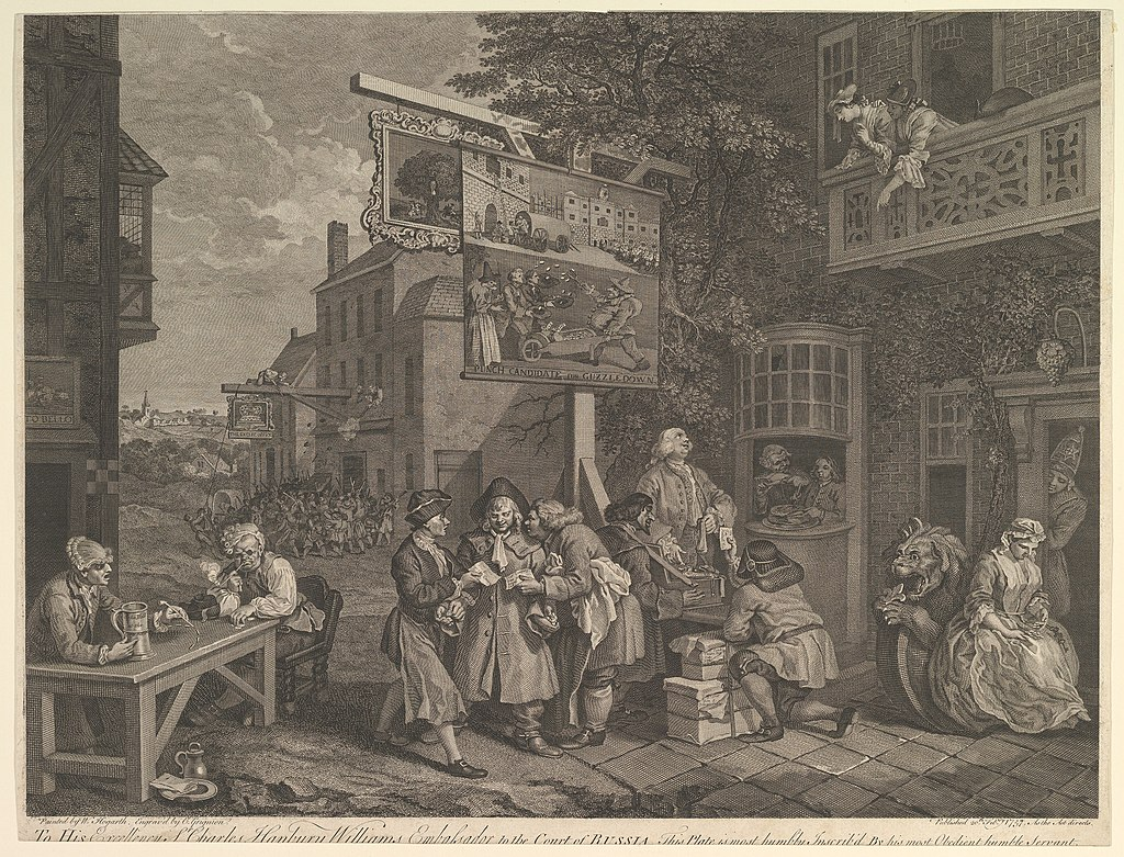"""Canvassing for Votes"" by William Hogarth"