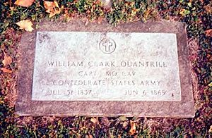 William Quantrill - Grave of Capt. William Quantrill in Fourth Street Cemetery, Dover, Ohio