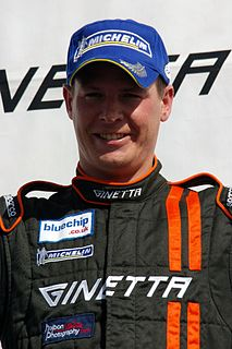 Carl Breeze British racing driver.