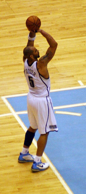 Carlos Boozer - Carlos Boozer shooting a free throw while playing with the Utah Jazz in March 2008.
