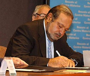 English: Cropped picture of Carlos Slim, a Mex...