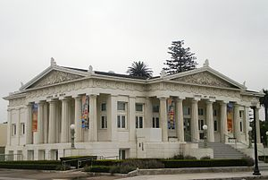Carnegie Art Museum (Oxnard, California) - Two of the structure's three neoclassical facades
