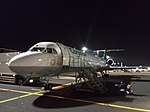 Carpatair Fokker100 at night.jpg