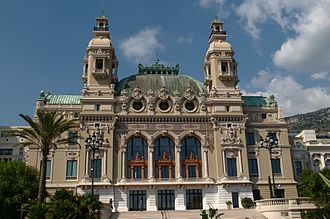 Charles Garnier (architect) - Seaside facade of the Monte Carlo Casino Theatre, designed by Garnier