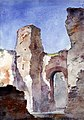 Cass Gilbert - Baths of Caracalla, Rome - 1962.13.21 - Smithsonian American Art Museum.jpg