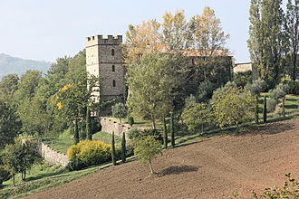 Hill castle - The Montechino castle in Montechino, example of an Italian castle built on a hill
