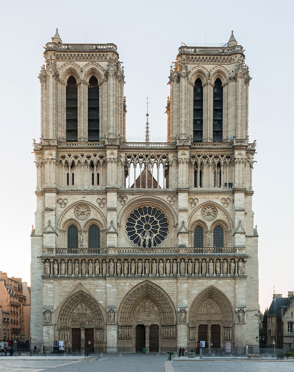 The Façade Of This Peachtree Park Abode Belies Its 9 000: West Facade Of Notre-Dame De Paris