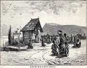 Catholic mass in Bosnia, illustration, 1901