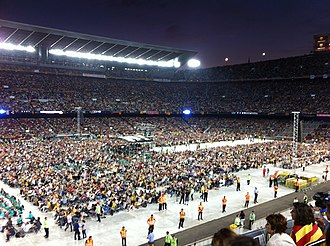 Concert for Freedom - Partial view of Camp Nou during the concert.