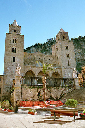 Cathedral of Cefalù (Italy), front view
