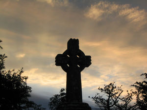 Celtic Christianity - A Celtic Cross in Knock, Ireland.