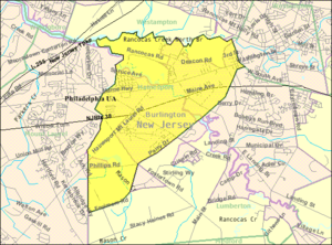 Hainesport Township, New Jersey - Image: Census Bureau map of Hainesport Township, New Jersey