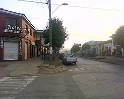 Sight of the urban centre of Pichilemu, shortly after the 2010 Chile earthquake.