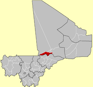 Location of the Cercle of Niafunké in Mali