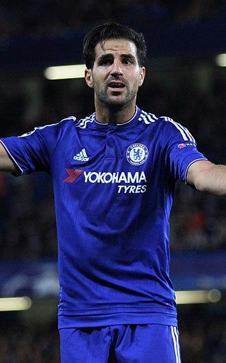 Cesc Fàbregas - Fàbregas playing for Chelsea in 2015