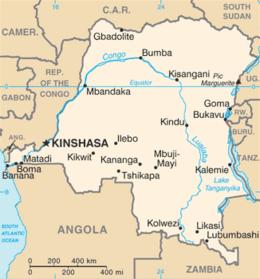 Repubblica Democratica del Congo - Mappa